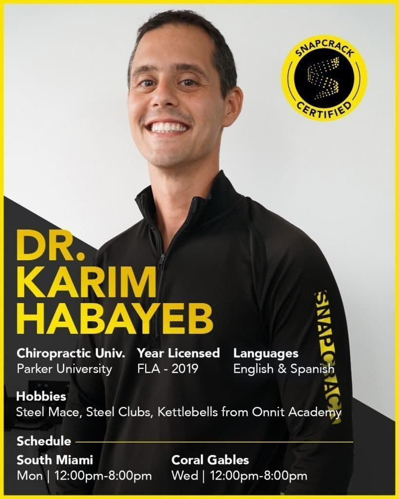 Snap Crack Certified - Dr Karim Habayeb Poster with Info