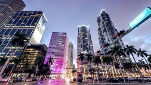 city view of downtown miami
